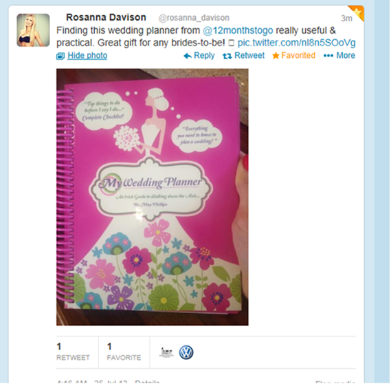 My-Wedding-Planner-Irish-Guide-Rosanna Davison Tweet