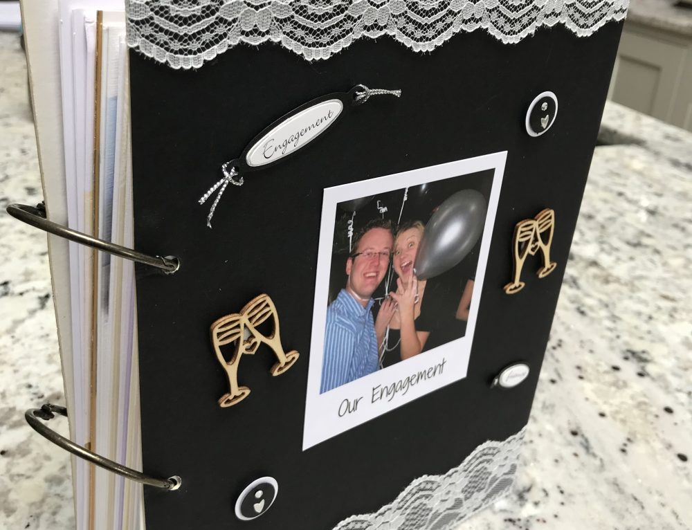 How To Make A DIY Engagement Card Keepsake Book